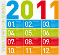 Colorful Calendar 2011 Royalty Free Stock Images