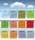 Colorful calendar for 2012 Stock Photos