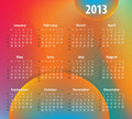 Colorful calendar for 2013 year Stock Photo