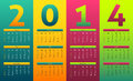 Colorful calendar and gradient style for year Stock Images
