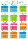 Colorful Calendar For Year 2011 Royalty Free Stock Images