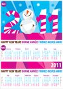 Colorful calendar for year 2011.Vector format. Royalty Free Stock Photos