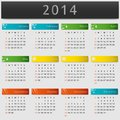 Colorful calendar year the vector on Stock Images