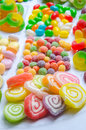 Colorful candies different kinds of arrangement Stock Image