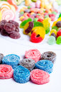 Colorful candies different kinds of arrangement Stock Images