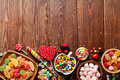 Colorful candies, jelly and marmalade Royalty Free Stock Photo
