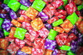 Colorful candies the package of the increases the attractiveness of the Stock Images