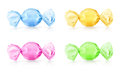 Colorful candies vector illustration on white background Royalty Free Stock Photography