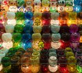 Colorful candle holders in Egyptian Spice Bazaar Stock Image