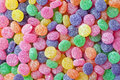 Colorful candy background brightly colored and sugar coated as a Stock Image