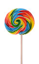 Colorful Candy Lollipop on a White Background Royalty Free Stock Photo
