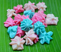 Colorful candy a lua thai style handmade sweet dessert Stock Photography