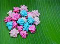 Colorful candy a lua thai style handmade sweet dessert Royalty Free Stock Images