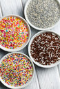 Colorful candy sprinkles Royalty Free Stock Photos