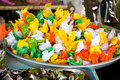 Colorful candy thai dessert in the market Stock Photography