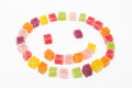 Colorful candy on white background Royalty Free Stock Image