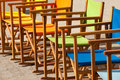 Colorful Canvas Chairs In Symm...