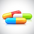Colorful capsule illustration of medical Stock Photos