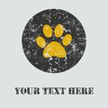 Colorful card with footprint. Vector illustration.