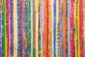 Colourful handmade rugs Royalty Free Stock Photo