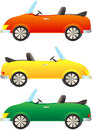 Colorful cars cabriolet Royalty Free Stock Photography