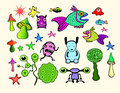 Colorful Cartoons Royalty Free Stock Images