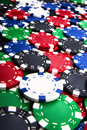 Colorful casino chips background Royalty Free Stock Photo