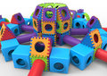 Colorful castle playground Royalty Free Stock Photo
