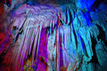 Colorful cave in shanxi china Royalty Free Stock Image