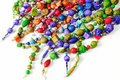 Colorful ceramic beads