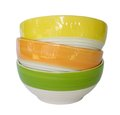 Colorful ceramic bowl stack of Stock Images
