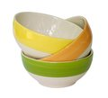 Colorful ceramic bowl stack of Stock Photo
