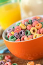 Colorful Cereal Loops Royalty Free Stock Image