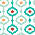 Colorful chain ikat seamless pattern background vector Royalty Free Stock Image