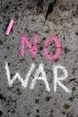 Chalk drawing: Words NO WAR Royalty Free Stock Photo
