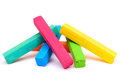 Colorful chalk isolated