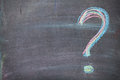 Colorful chalk question mark on blackboard background Royalty Free Stock Photo