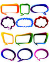 Colorful chat elements Royalty Free Stock Photo