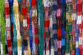 Colorful cheap glass necklaces from the market Stock Images