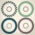 Colorful checkered circle frame background Royalty Free Stock Photo