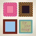 Colorful checkered rectangle frame background Stock Photos