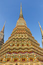 Colorful Chedis in Bangkok, Thailand Royalty Free Stock Photo