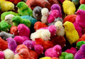Colorful chicks ready to sale in farm Royalty Free Stock Images