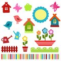 Colorful child scrapbook elements Royalty Free Stock Photo
