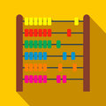 Colorful children abacus flat icon