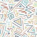 Colorful children hand drawn seamless pattern.