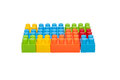 Colorful children s toys plastic building blocks this has clipping path Stock Photography