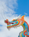 Colorful Chinese dragon Stock Photo