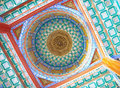 Colorful Chinese pavilion roof design Royalty Free Stock Photo