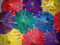 Colorful Chinese Umbrellas Royalty Free Stock Photos